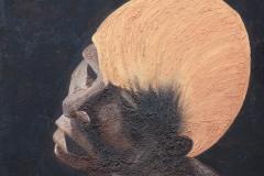 Portrait de statue - Hommage à OUSMANE SOW (format 60/60)