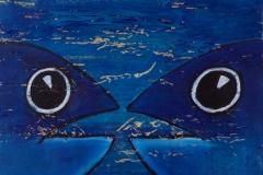 """""""Face à face"""" - Huile sur bois (format 26/23)"""