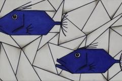 """""""Saint Pierre cubiques bleus"""" - Huile sur toile (format20/40)"""