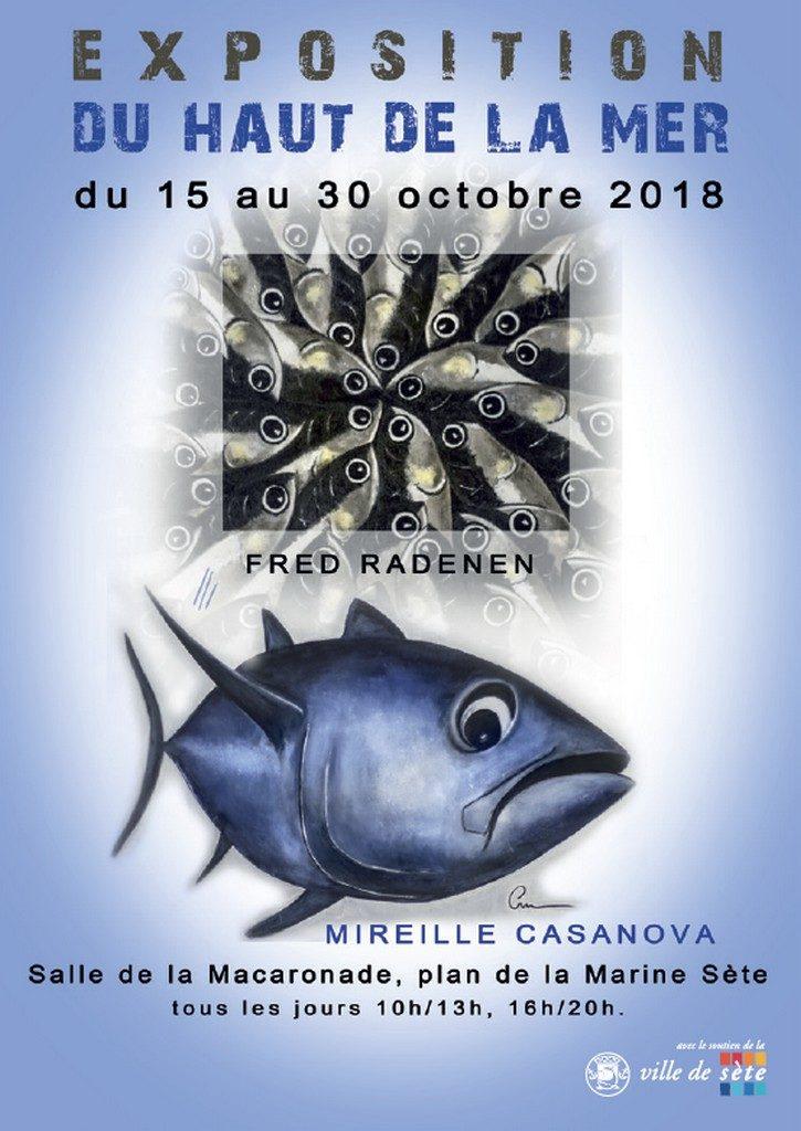 FRED RADENEN ET MIREILLE CASANOVA - EXPOSITION DU HAUT DE LA MER - du 15 au 30 octobre 2018