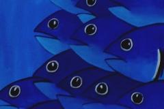 """""""Deep Blue"""" - Huile sur toile (format 30/30)"""