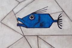 """""""Saint Pierre cubiques bleus"""" - Huile sur toile (format20/20)"""