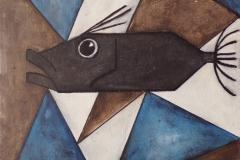 """""""Saint Pierre cubiques gris"""" - Huile sur toile (format30/30)"""