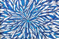"""""""Convergence bleue 2"""" - Huile sur carton toilé (format 30/30)"""