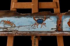Planche bleue Crabes et Langouste (format 127/14)